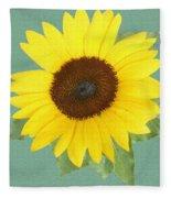Under The Sunflower's Spell Fleece Blanket