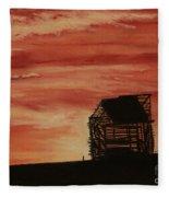 Under The Sunset Fleece Blanket