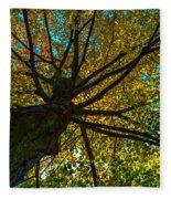 Under The Tree S Skirt Fleece Blanket