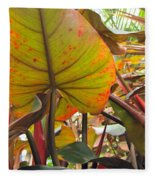 Under The Tropical Leaves Fleece Blanket