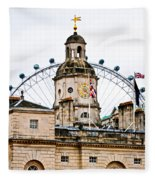 Under The Watchful Eye At Horse Guards Fleece Blanket