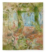 Undergrowth In Autumn Fleece Blanket