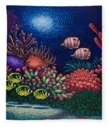 Undersea Creatures Vi Fleece Blanket