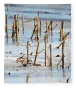 Underwater Cornfield Fleece Blanket