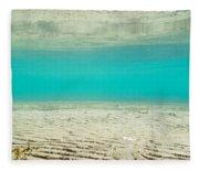Underwater Sand Beach Fleece Blanket