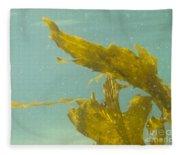 Underwater Shot Of Seaweed Plant Floating Leaves Fleece Blanket