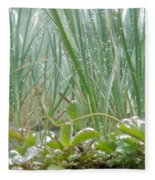 Underwater Shot Of Submerged Grass And Plants Fleece Blanket