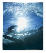 Surfing Into The Eye Fleece Blanket