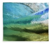 Underwater Wave Curl Fleece Blanket
