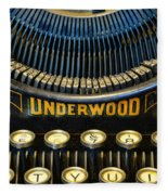 Underwood Typewriter Fleece Blanket