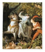 Undine And The Wood Demons Fleece Blanket