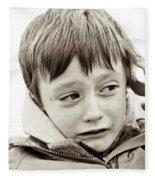 Unhappy Boy Fleece Blanket
