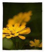 Unidentified Yellow Flower Fleece Blanket