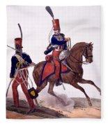 Uniforms Of The 5th Hussars Regiment Fleece Blanket