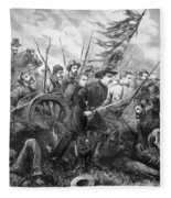 Union Charge At The Battle Of Gettysburg Fleece Blanket