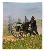 Union Gattling Gun Fleece Blanket