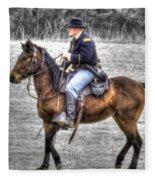 Union Horse Officer Fleece Blanket