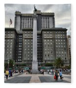 Union Square Courtyard Fleece Blanket