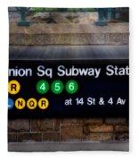 Union Square Subway Station Fleece Blanket