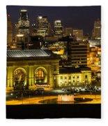 Union Station Kansas City Fleece Blanket
