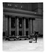 Union Station Chicago The Great Hall Fleece Blanket