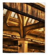 Union Station Roof Structure Fleece Blanket