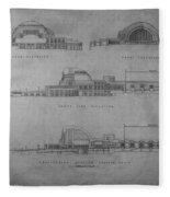 Union Terminal 1b Fleece Blanket