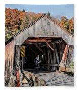 Union Village Covered Bridge Thetford Vermont Fleece Blanket
