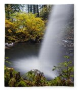 Unique View Of Ponytail Falls Fleece Blanket