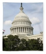 United State Capitol Dome Washington Dc Fleece Blanket