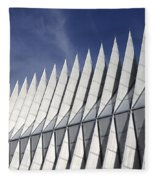 United States Airforce Academy Chapel Colorado Fleece Blanket