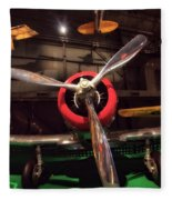 United States Airplane Museum Fleece Blanket