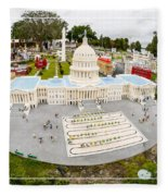 United States Capital Building At Legoland Fleece Blanket