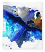 United States Of America Map 7 - Colorful Usa Fleece Blanket