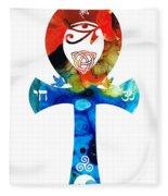 Unity 16 - Spiritual Artwork Fleece Blanket