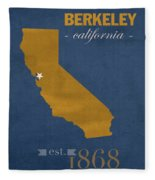 University Of California At Berkeley Golden Bears College Town State Map Poster Series No 024 Fleece Blanket