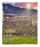 University Of Colorado Boulder Go Buffs Fleece Blanket