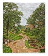 University Of North Alabama Campus Fleece Blanket