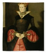 Unknown Lady From The Court Of King Fleece Blanket