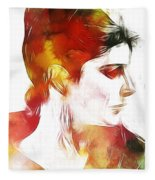 Unknown Lady Fleece Blanket