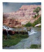 Unspoiled Waterfall Fleece Blanket