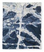 Untitled Clay On Rubber Fleece Blanket