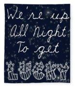 Up All Night Fleece Blanket