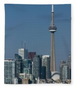 Up Close And Personal - Cn Tower Toronto Harbor And Skyline From A Boat Fleece Blanket