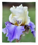 Up Close Elegant Iris Fleece Blanket