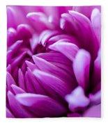 Up-close Flower Power Pink Mum  Fleece Blanket