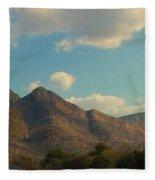 Up Close Mountains Fleece Blanket