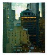 Up - Skyscrapers Of New York Fleece Blanket