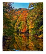 Up The Lazy River Painted Fleece Blanket