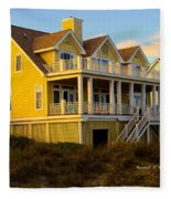 Up The Stairs At Isle Of Palms Fleece Blanket